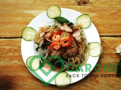Cassava noodle with shrimp pork