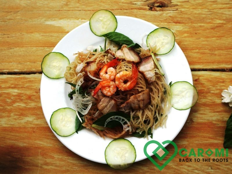 Cassava noodle with shrimp pork