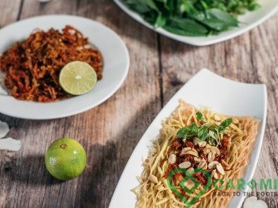 Cassava noodle with beef jerky